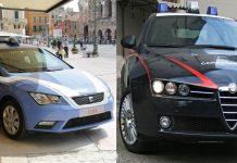 Auto Polizia Carabinieri terrorismo a Napoli