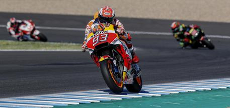 MotoGP Marc Marquez Spagna 2018 - foto Ansa-Epa-JOSE MANUEL VIDAL