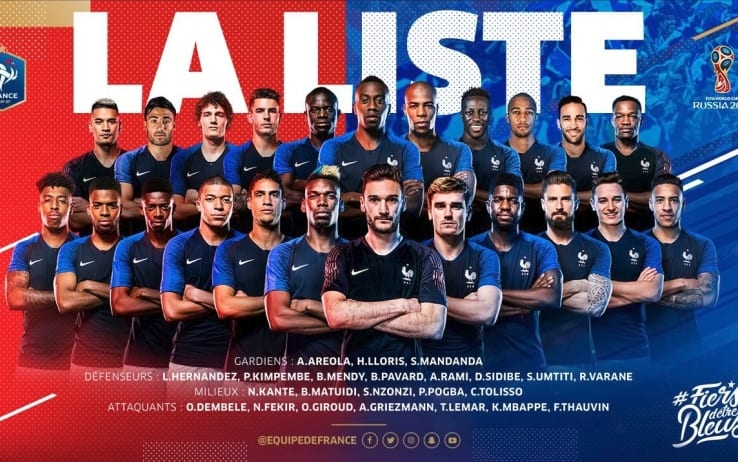 Photo of Calcio Mondiali Russia 2018. Allons enfants!