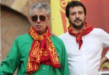 Lega-Bossi-Salvini-foto ANSA/FILIPPO VENEZIA