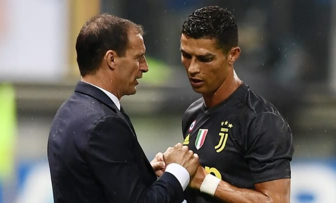 calcio-Allegri-Ronaldo (foto web)