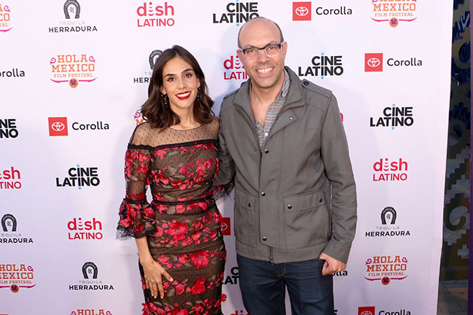 Hola Mexico - 05-Sandra Echeverria and Samuel Douek, Festival director, Courtesy of HMFF Moises Gonzalez