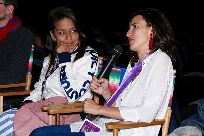 Hola Mexico - 12-Gabriela Cartol, actress La Camarista, Lila Aviles, director La Camarista, courtesy of HMFF Moises Gonzalez