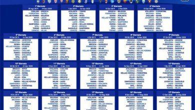 Photo of Serie A. Ecco il calendario 2019-20