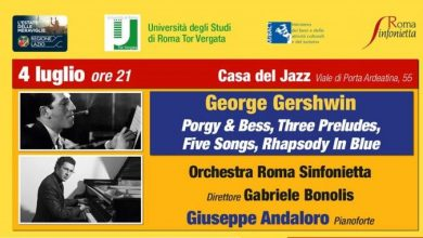 Photo of Casa Del Jazz – Bonolis dirige Gershwin con Roma Sinfonietta e il pianista Giuseppe Andaloro