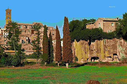 sutri-gara-canora-03 Castello di Carlo Magno e Necropoli