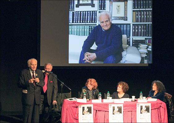 Walter Pedullà Premio Pagliarani 2019 (foto di Dino Ignani)