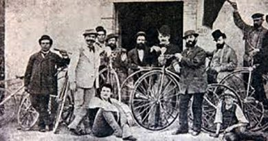 ciclismo gara Firenze Pistoia 1870 (Foto web)