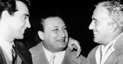 Walter Chiari, Cesare Andrea Bixio e Vittorio De Sica (foto web)