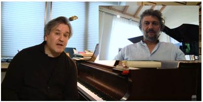spettacolo Antonio Pappano in streaming con Jonas Kaufmann in video conferenza per l'Otello (Web)