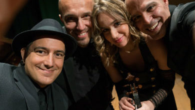 "Photo of Accademia di Santa Cecilia. L'""Anna Tifu Tango Quartet"" con il Coro ceciliano diretto da Piero Monti in ""Libertango"""