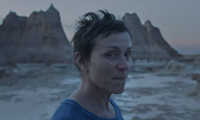 cinema Nomadland, Frances McDormand