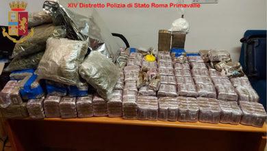 Photo of Supermercato della droga scoperto nella Capitale. 105 kg. di hashish, 5 kg. di marijuana e 529 grammi di cocaina. Tre le persone arrestate.