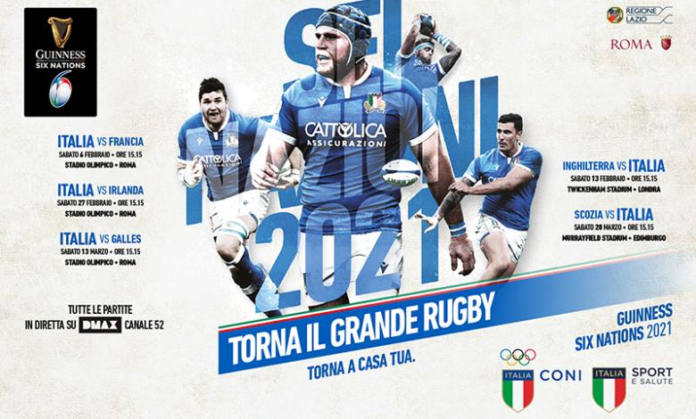 Rugby 6 NAZIONI 2021 - locandina