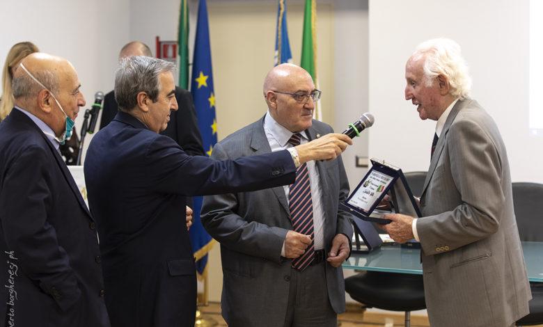 caravella gramazio, gasparri, de lorenzo - consegna targa (foto Roberto Borgheresi)